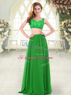 Sleeveless Beading and Lace Zipper Prom Evening Gown