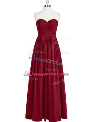 Amazing Sleeveless Zipper Floor Length Pleated Prom Dress