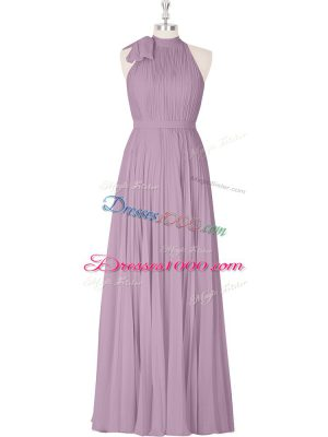 Floor Length A-line Sleeveless Purple Prom Dress Zipper