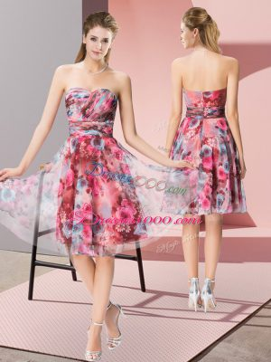 Best Selling Multi-color Sweetheart Zipper Pattern Homecoming Dress Sleeveless