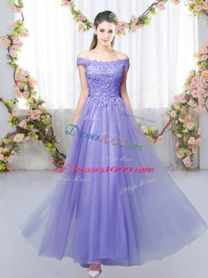 Noble Sleeveless Lace Lace Up Bridesmaid Dress