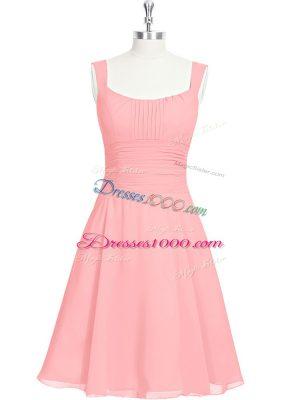 Sleeveless Ruching Zipper Dress for Prom