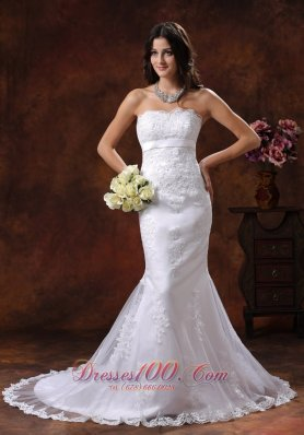 Exquisite lace Wedding Gown Mermaid Style Train