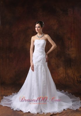 Court Train Embroidery Western brides Wear Dramatic