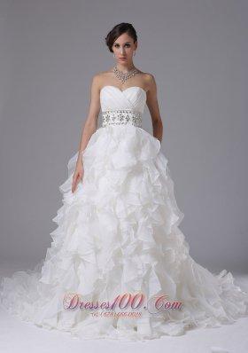Layered Beading Sweetheart Dress for Garden Wedding
