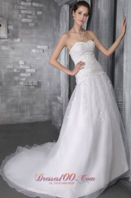 Wedding Dress Court Train Sweetheart Princess Organza