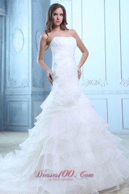 Hand Made Flowers Mermaid Wedding Gown 2012