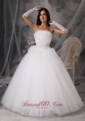 Looking Strapless Wedding Gown Puffy Skirt