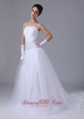 Wedding Dress Beading Decorate Sash Tulle