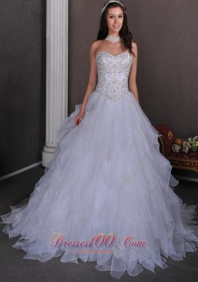 Wedding Dress A-line Sweetheart Beading Layer
