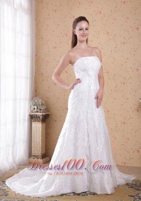 Cinderella Lace Bridal Dresses Princess Strapless Court