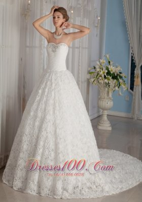 Luxurious Wedding Bridal Gowns Special Sweetheart Chapel