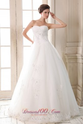 Beading Bridal Dress Sweetheart Empire Fairy Tales Tulle