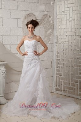 Exquisite Sweetheart Wedding Dress Ruched