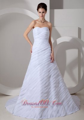 Special Ruchings Wedding Gowns Sweetheart Ruch