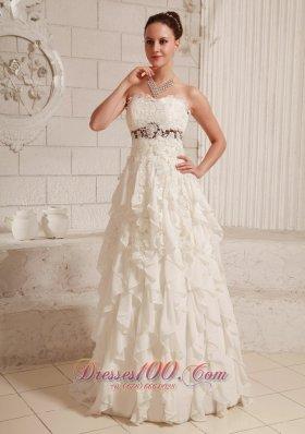 Lace and Chiffon Ruffled Pretty Bridal Dresses