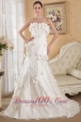 Strapless Lace and Taffeta Bridal Dresses 2013