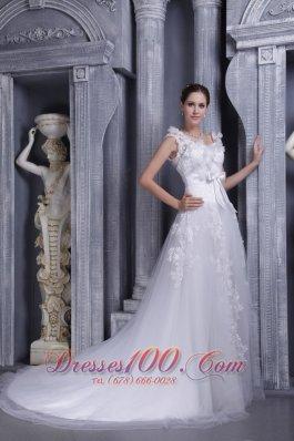 Elegant Square Tulle Lace Wedding Dress 2013