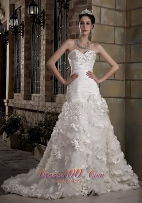 Attractive Sweetheart Court Train Wedding Dress