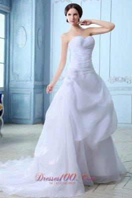 Noble Sweetheart Wedding Dress Organza Ruch