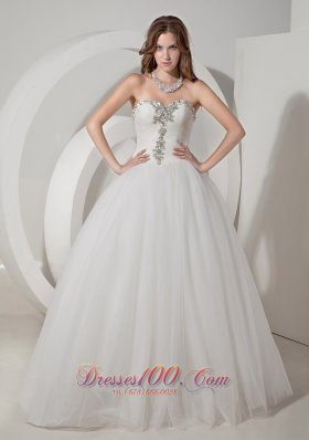 Sweetheart Wedding Dress Taffeta and Organza Beading