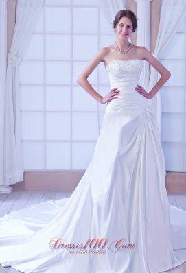 Sweetheart Taffeta Beading Bridal Dress On Sale