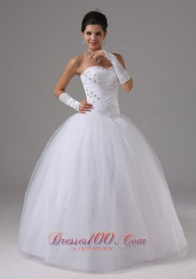 Ball Gown Bridal Dress Sweetheart Beaded Tulle