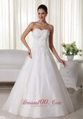 Wedding Gown Sweetheart Floor-length Organza Organza A-line
