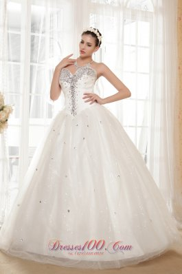 Sweetheart Wedding gown Tulle and Taffeta Beading