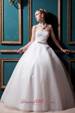 Ivory Wedding Gown Dress Beaded bodice Satin and Tulle