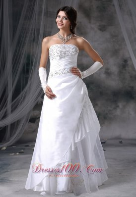 Appliques With Beading Decorated Up Bodice Wedding Dress