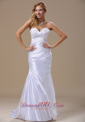 Mermaid Sweetheart Dress for Wedding with Lace