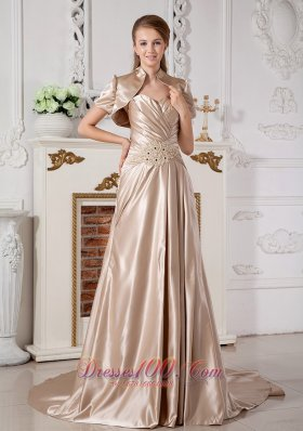 Champagne Sweetheart Wedding Dress Red Carpet Jacket