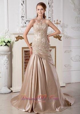Customize Mermaid Bridal Dresses Sweetheart Court Appliques