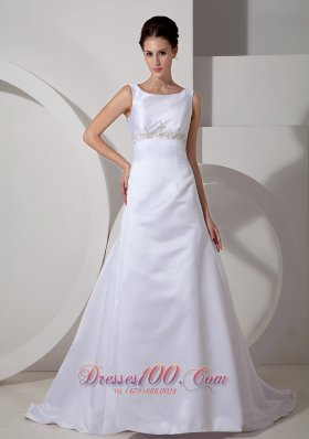 Classic Wedding Dress Scoop Appliques Empire for Cheap