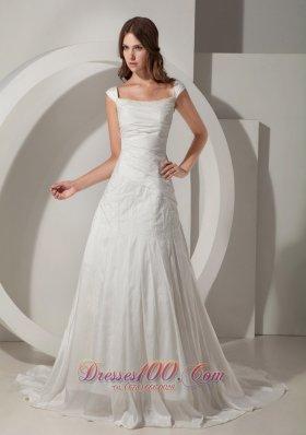 Sheath Straps Wedding Bridal Dress Court Train Lace up