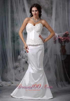 Convertible Mermaid Garden Lace Wedding Dress Sweetheart