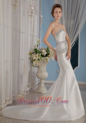 Amazing Sexy Mermaid / Trumpet Wedding Bridal Dress Gilding