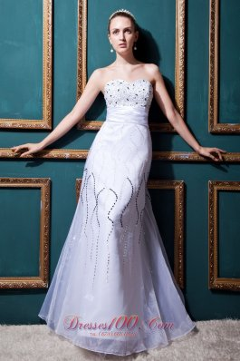 Dreamy Empire Wedding Gowns Sweetheart Floor-length Organza