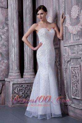 Mermaid Bridal Dress for Outdoor Wedding Elastic Woven Satin