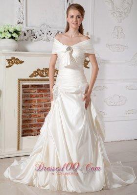 Grand Church Western Bridal Wedding Dress Off the Shoulder