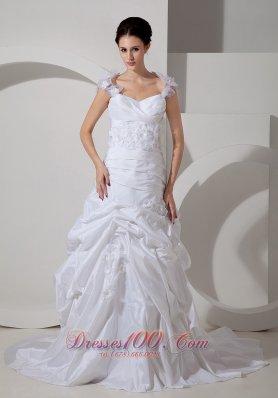 Customize Floral Wedding Bridal Dress Straps A-line High End