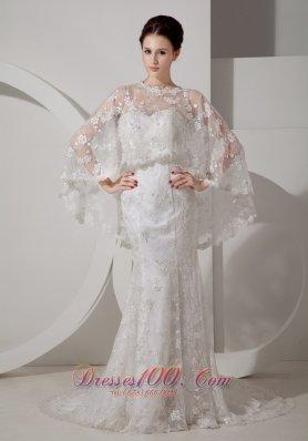Convertible Mermaid Lace Outdoor Wedding Dress Sweetheart