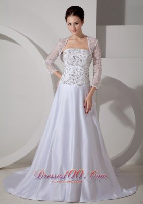 Delicate Queen Katherine Style Wedding Gowns Embroidery