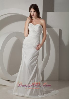Ruch Sweetheart Garden Bridal Gowns Column Taffeta Under 200