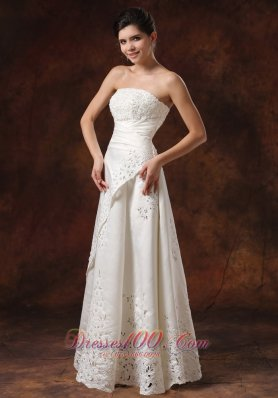 Custom Made Lace Skirt Wedding Dress for Petite Brides