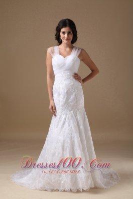 Mermaid Sweetheart Lace Wedding Bridal Dress Fairy Tale
