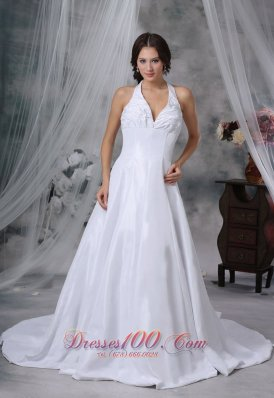 Halter Pick-ups Decorate Wedding Gowns Fashion For 2013