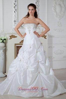 Brand New Plus Size Wedding Dress A-line Appliques Court