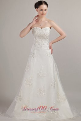Classical Tulle Wedding Bridal Dress Beading Embroidery